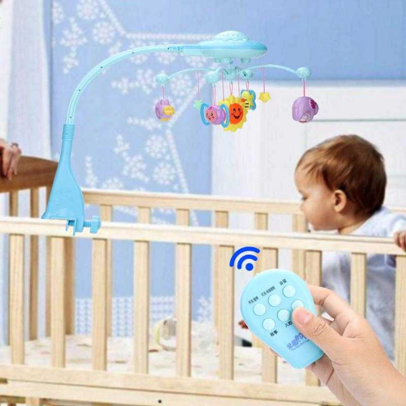 Nouveau bébé hochets jouet Mobile musique lit cloche avec étoiles du ciel suspendus rotatif projetant bébé jouet éducatif pour nouveau-né Bbay cadeau