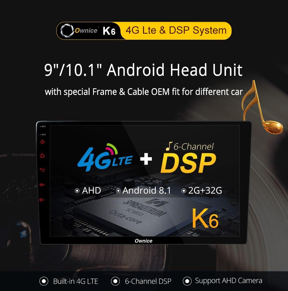 Ce lien est pour la Description du produit de la série Ownice K6, ne se vend pas séparément