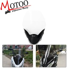 Motor Kaca Depan Kaca Depan Spoiler Air Deflectors Angin Scooter untuk PCX125 150 2013-2017(China)