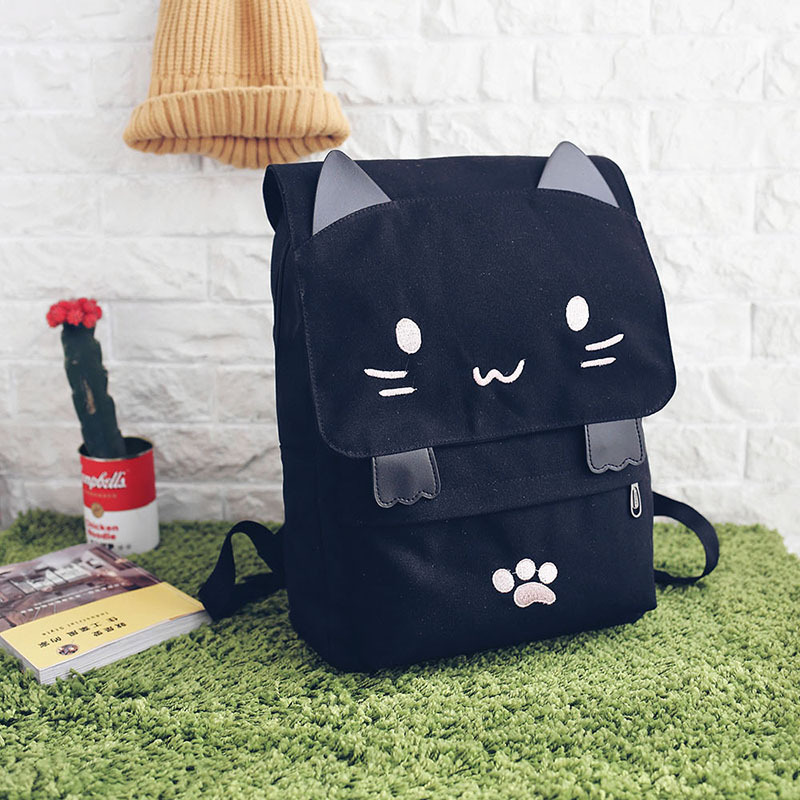 HTB16wqWSXXXXXblXVXXq6xXFXXXE - Women Cute Cat Backpack Canvas Kawaii Backpacks School Bag for Student Teenagers Lovely Rucksack Cartoon Bookbags Mochilas