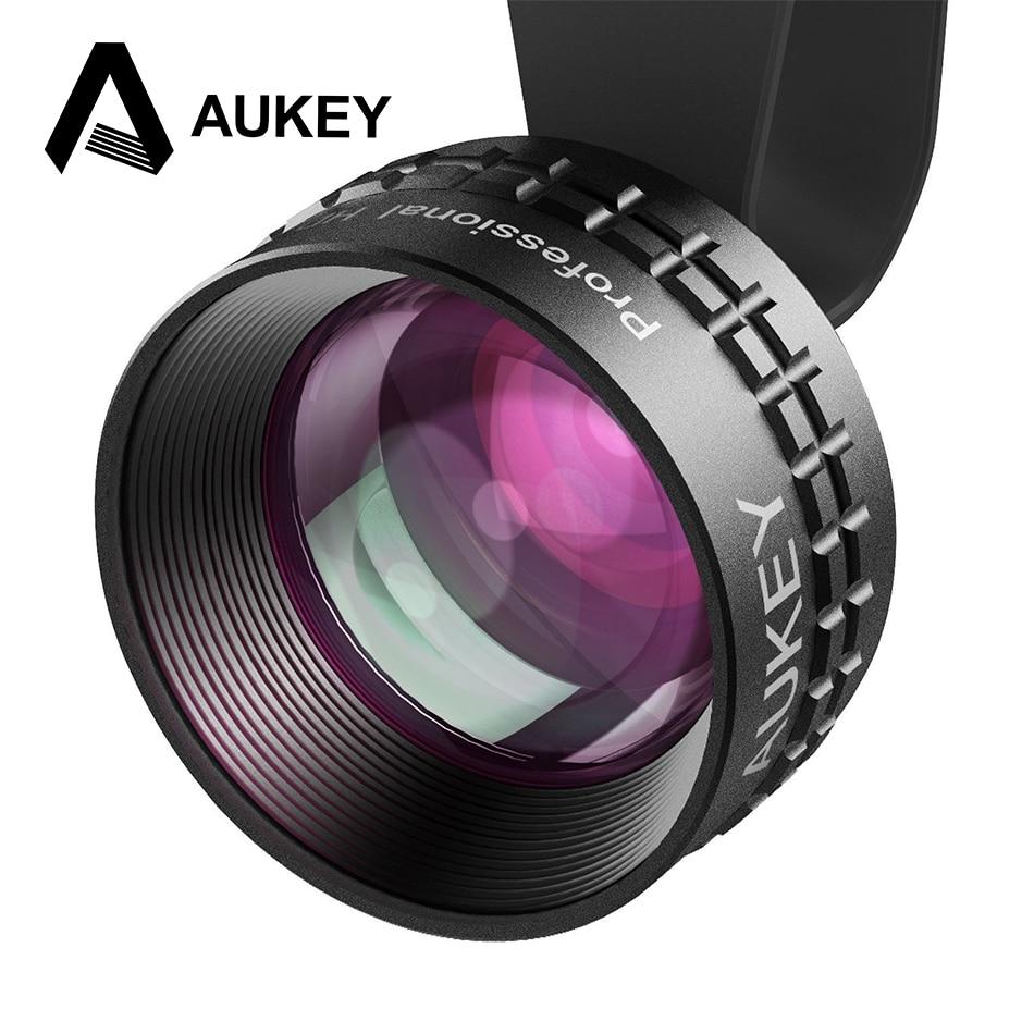 imágenes para Aukey óptica pro lente 2x hd teleobjetivo lente de la cámara kit de teléfono celular 2x como cerrar ninguna distorsión y ojeras para iphone7/7 plus nota 7