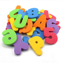 36pcs Baby Bath Toys Alphanumeric Letter Puzzle EVA Water Bathing Toy for Children Early Educational Fun Learning