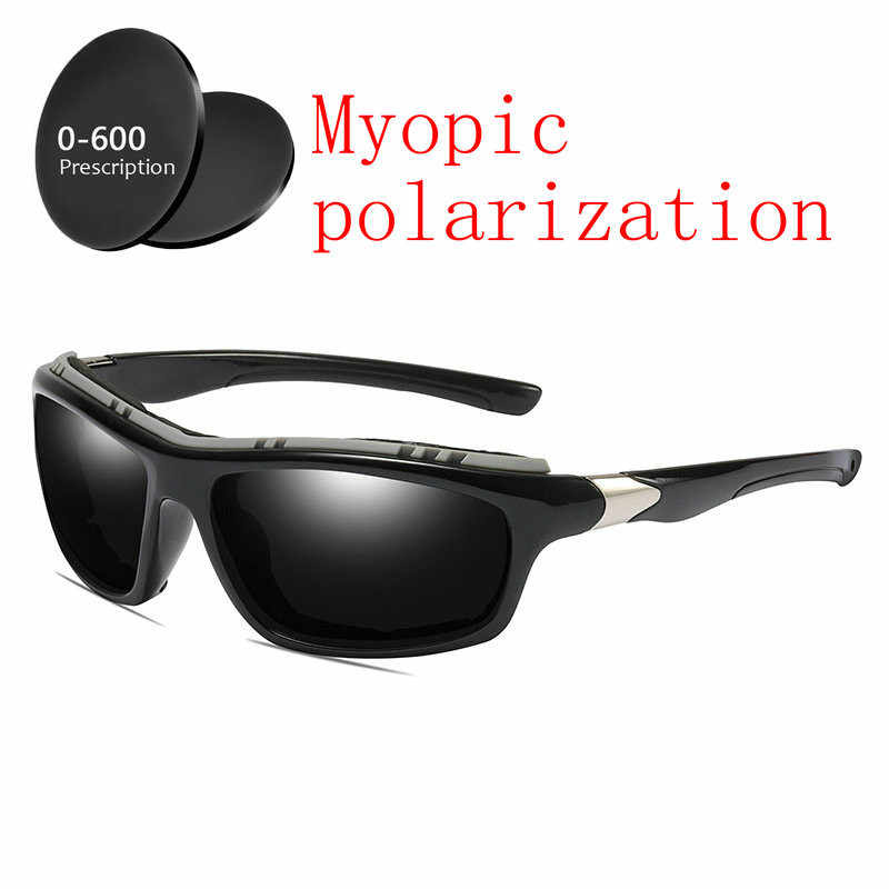 aa65315404b 2019 Custom Made Myopia Minus Prescription Polarized Lens Sunglasses Men  Designer Vintage Driving Sun Glasses Male
