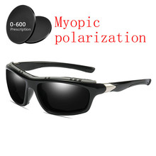 2019 Custom Made Myopia Minus Prescription Polarized Lens Sunglasses Men Designer  Vintage Driving Sun Glasses Male b4df5750e5