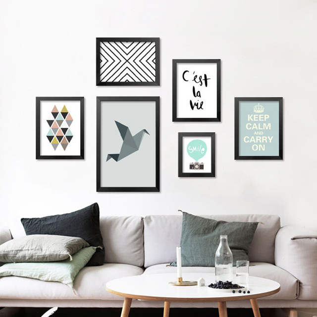 Home Decormodern Nordic Abstract Art Canvas Quote Posters Prints Wall Sticker Pictures For Kids