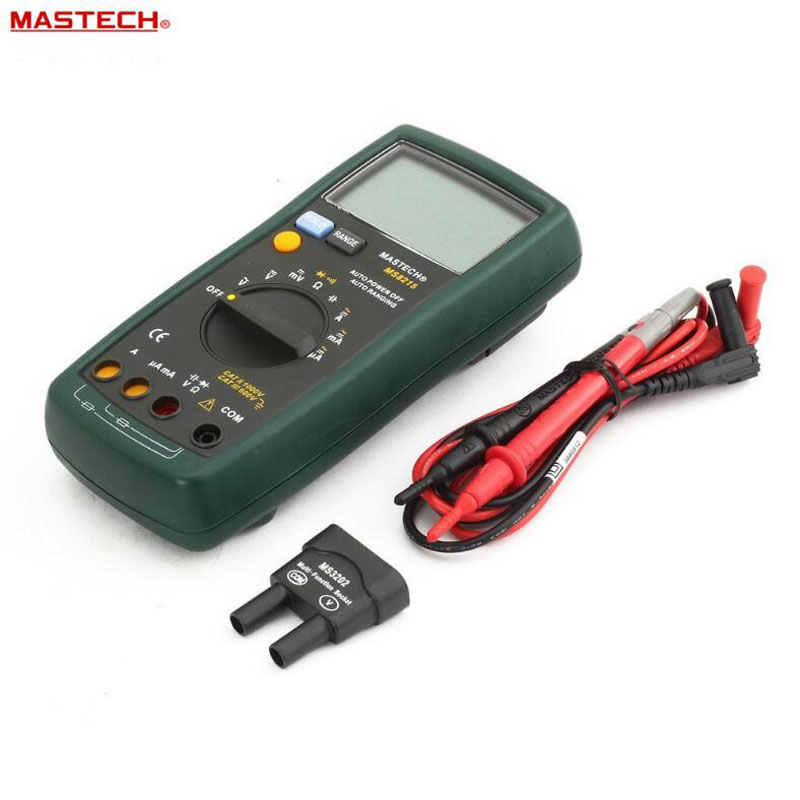 MASTECH MS8215 Auto range Digital Multimeter DC AC Voltage Current Tester capacitance frequency resistance Tester detector mastech ms8226 handheld rs232 auto range lcd digital multimeter dmm capacitance frequency temperature tester meters