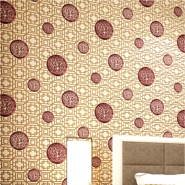 Chinoiserie Wallpaper Rolls Bring Happiness With Lucky Non Woven Wall Paper For Living