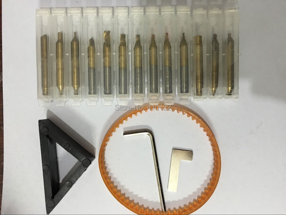 US $15 92 20% OFF Titanium End Mills Drill Bits For Vertical Key Cutting  Machine Cutter Parts Locksmith Tools Steel Drills 17pieces/lot-in Locksmith