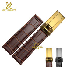 Genuine leather bracelet watch strap handmade watchband 19mm 20mm wristwatches band accessories watch belt fold buckle