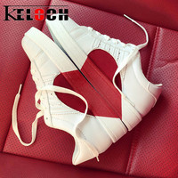 Keloch New Arrive White Shoes Women Student Couple Flats Shoes Comfortable Sneakers Women Ladies Casual Shoes