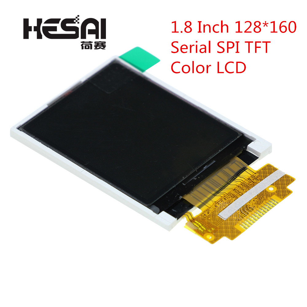 1.8 Inch 128*160 Serial <font><b>SPI</b></font> <font><b>TFT</b></font> Color LCD Module 128x160 Display ST7735 With <font><b>SPI</b></font> Interface 5 IO Ports for <font><b>arduino</b></font> Diy Kit image