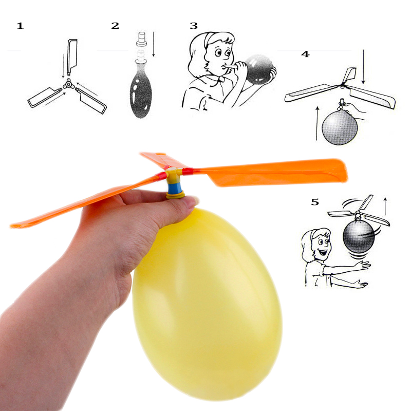 Balloon Helicopter Flying Toy Child Birthday Gift Outdoor Aircraft Propeller Balon Kids Children's Outdoor Fun Sports party Toy