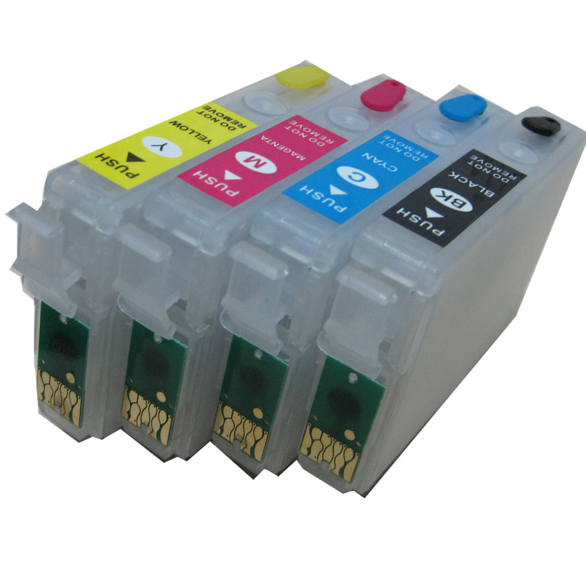 T1631 16XL Refillable Ink Cartridge For EPSON WorkForce WF-2010W WF-2510WF WF-2520NF WF-2530WF WF-2540WF WF-2630W 650DWF 2660DWF