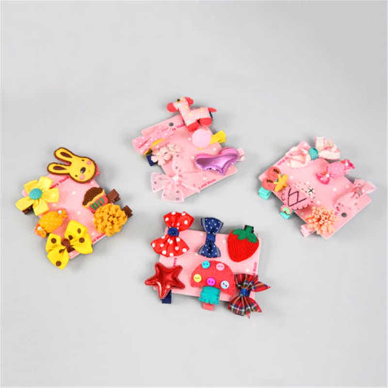 1 חתיכה סט = 6PCS חדש מכבנת הילדים תינוק בד קשת פרח בארה 'ב סיכת ראש הילדה טיארה אבזרים לשיער הנמכר ביותר ילד