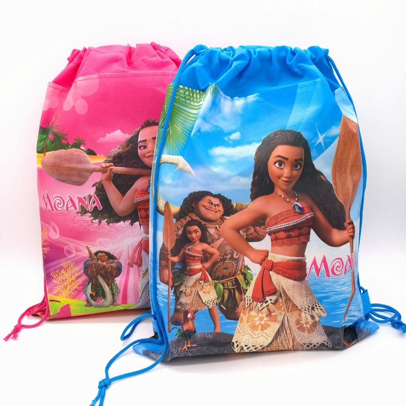 1pc 36*27cm Ocean Moana Gift Bag Non-Woven Fabric Drawstring Backpack Loot Bag Birthday Party Supplies Party Favors