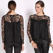 2014 summer women blouses& shirts lace Chiffon blouse clearance plus size blusas femininas Temperament #10