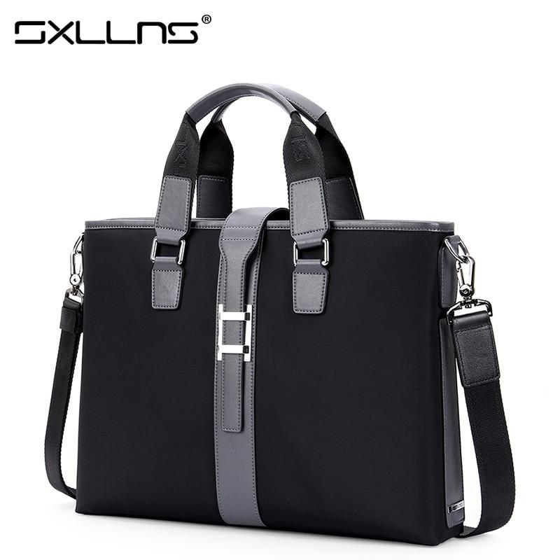 2017 Hot Men Shoulder Bags Brand Handbag Sxllns Men's Messenger Bag Laptop Tote Bag Business Casual Crossbody Bag Briefcase