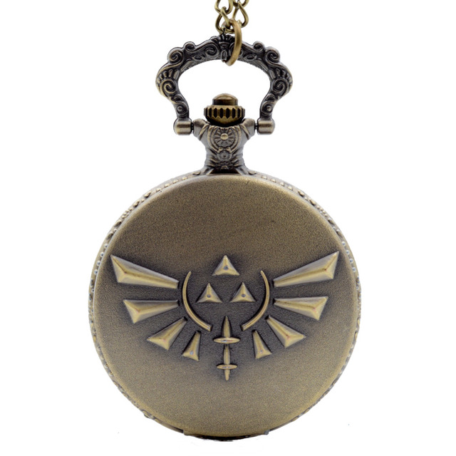 Fashion Game The Legend of Zelda: Skyward Sword Bronze Quartz Pocket Watch Analo