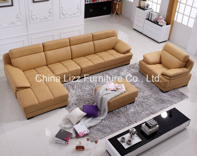 Lizz Singapore Living Room Furniture Modern Leather Sofa set 3s+1s+ ...