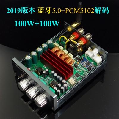 2019 Breeze Audio New BA100 HiFi 2.0 Digital Audio Amplifier Dual TPA3116 100W*2 Bluetooth 4.2/5.0 Individual Tune Adjustment