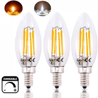 Dimmable 6W LED E12 Candle Light Bulb 60W Replacement Candelabra Base LED Light C35 E12