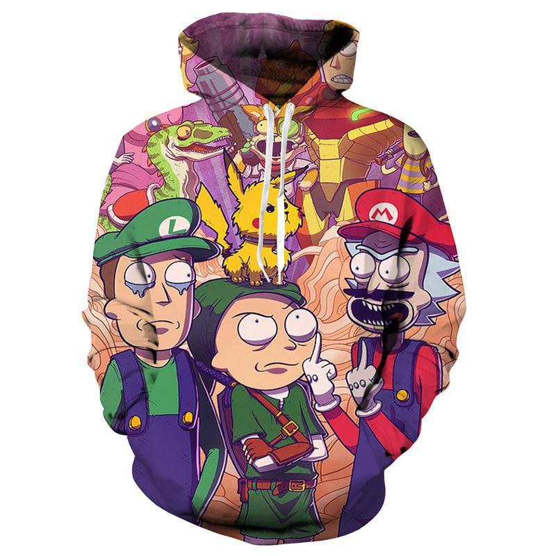 Rick and Morty Hoodies By Art 3D Unisex Sweatshirt Men Women Brand Hoodie Comic Casual Tracksuit Pullover Scientist Streetwear