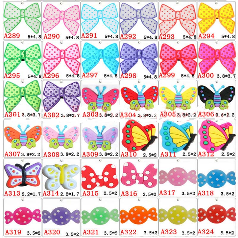Free Shipping 1000pcs Butterfly Sugar Garden Shoe Accessory Lovely Coloful Shoe Decoration For Girls Sandal free shipping 1000pcs rb551v 30 rb551v sod 323 schottky diode