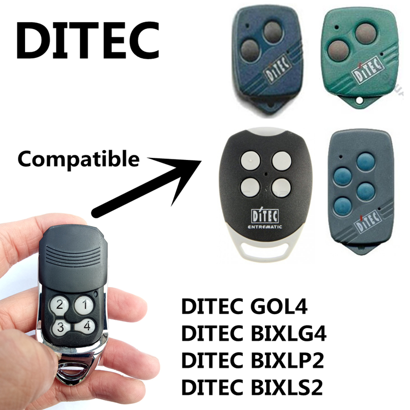Universial Ditec Remote Control 433.92MHZ Car Garage Door Duplicator Rolling Code Remote Cloning 4 Channel Electronic Gate new wireless remote control 315mhz remote cloning control channel 2 for auto car garage door duplicator rolling access control
