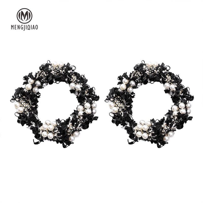 New Fashion Lace Wreath Big Circle Earrings For Women 1