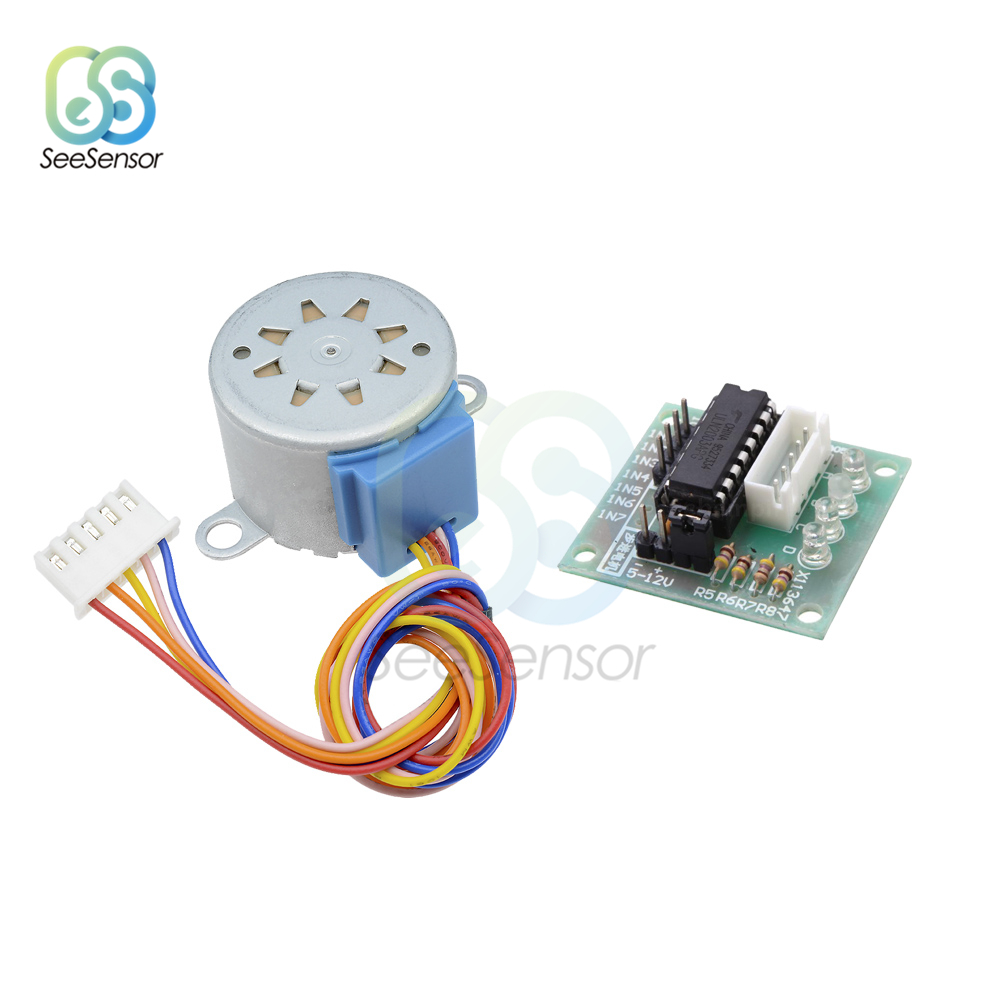 1Set 28BYJ-48 12V 4 Phase DC Reduction Gear Stepper Motor + ULN2003 Driver Board for arduino
