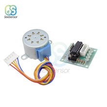 купить 1Set 28BYJ-48 12V 4 Phase DC Reduction Gear Stepper Motor + ULN2003 Driver Board for arduino в интернет-магазине