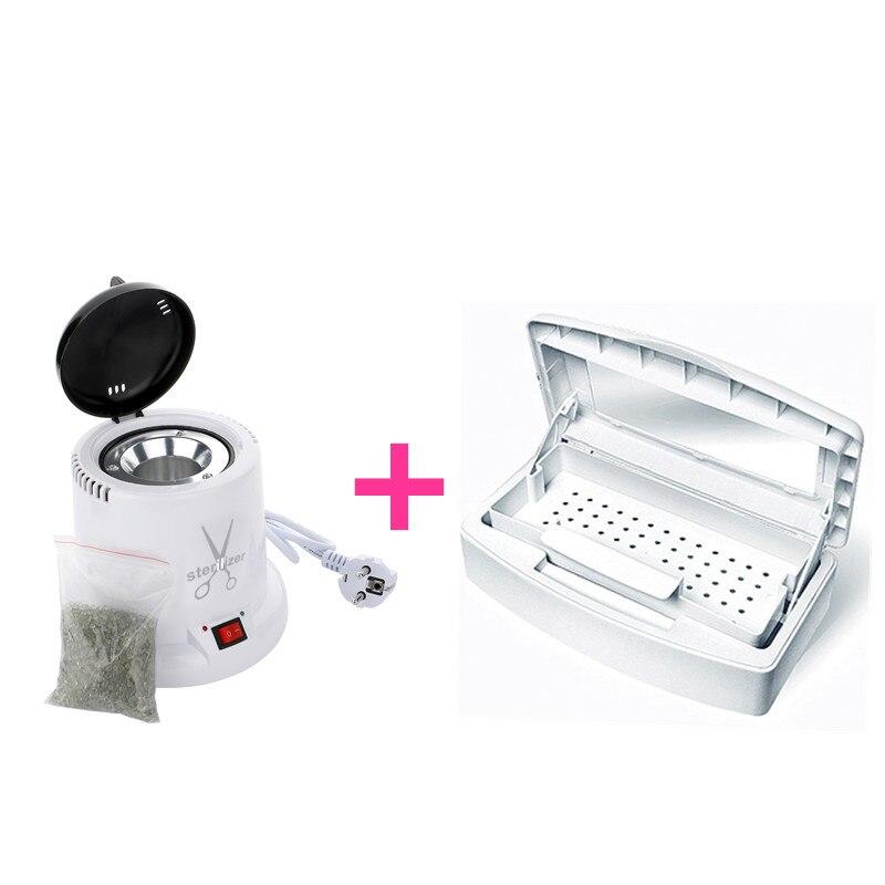 Alta Temperatura esterilizador y bandeja de desinfección caja de Metal de acero pinza pinzas las herramientas limpio esterilizadores del clavo arte herramienta