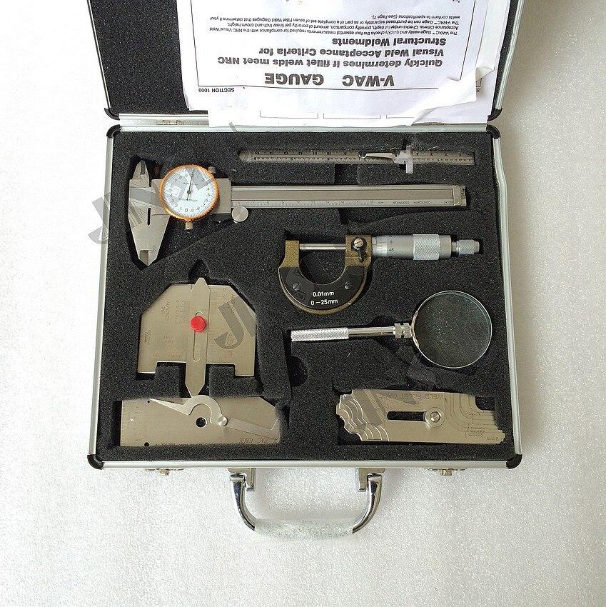 7PCS/SET high quality Welding gauge,welding measure 13 piece stainless steel welding gauge welding measure kits combine suit