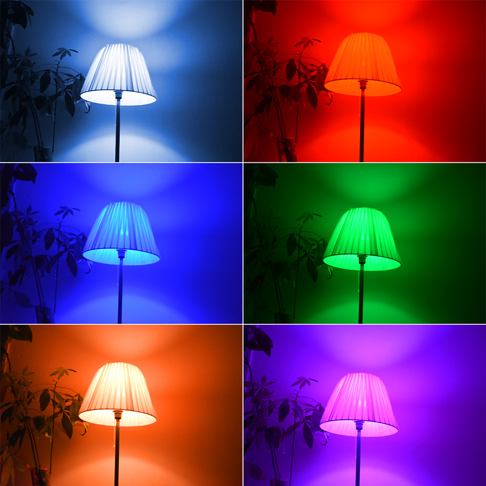 Image 5 - LED Night Light Lamp B22 rgb bulb holiday Dimmable Stage Lighting + 24key IR Remote Control 110V 220V 16 Color Magic blub-in LED Bulbs & Tubes from Lights & Lighting