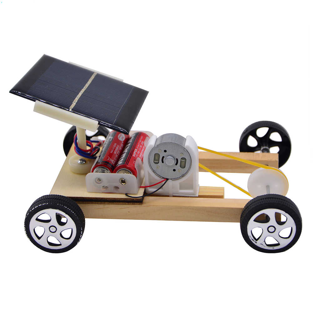 science toys solar system model Wooden Pulley Car Toy Science Project  Experiment Educational Model cryptex toys for children