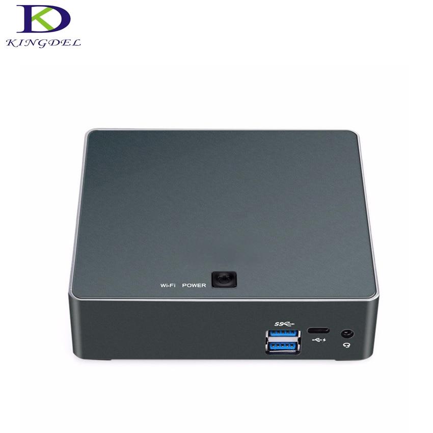 16G DDR4 RAM 512G SSD 1TB HDD Mini PC With 8th CPU Core I7 8550U I5 8250U Windows 10 Nettop HTPC Computer HDMI TYpe-c Mini Pc