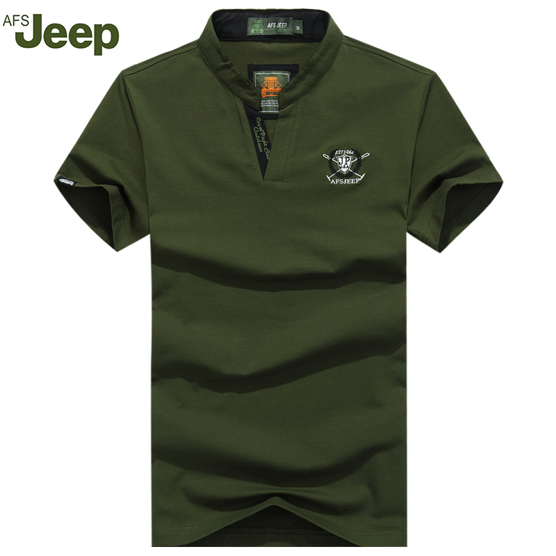 AFS JEEP 2017 Men Polo Shirt new summer fashion casual short-sleeved Polo shirt lapel solid color Polo Shirts 4colors 50