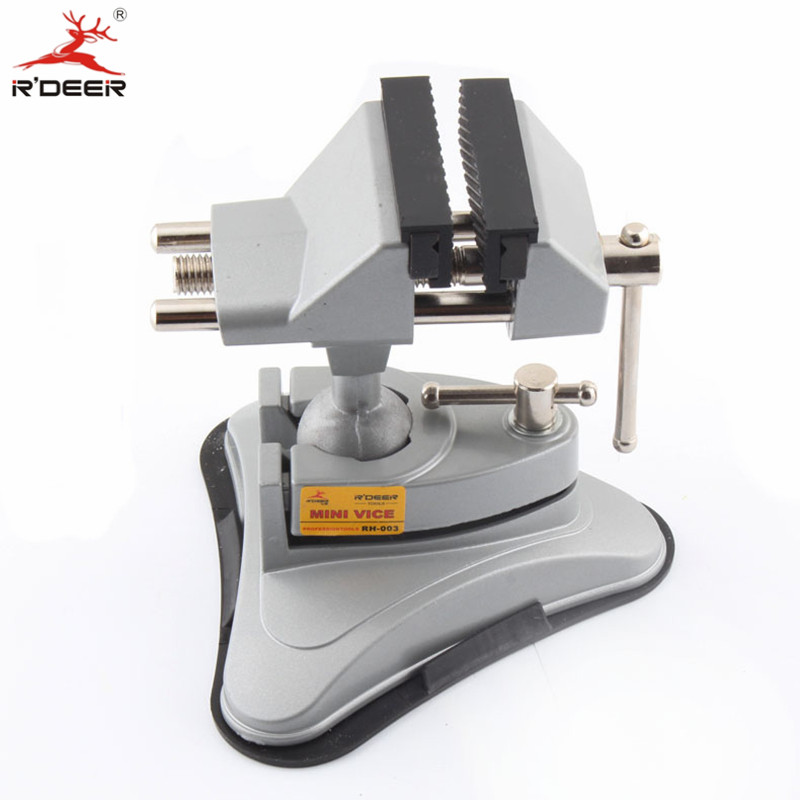 RDEER Universal Bench Vice Aluminum Alloy Table Vise With Rubber Jaws Machine Vise Clamp Fixed Repair Tool