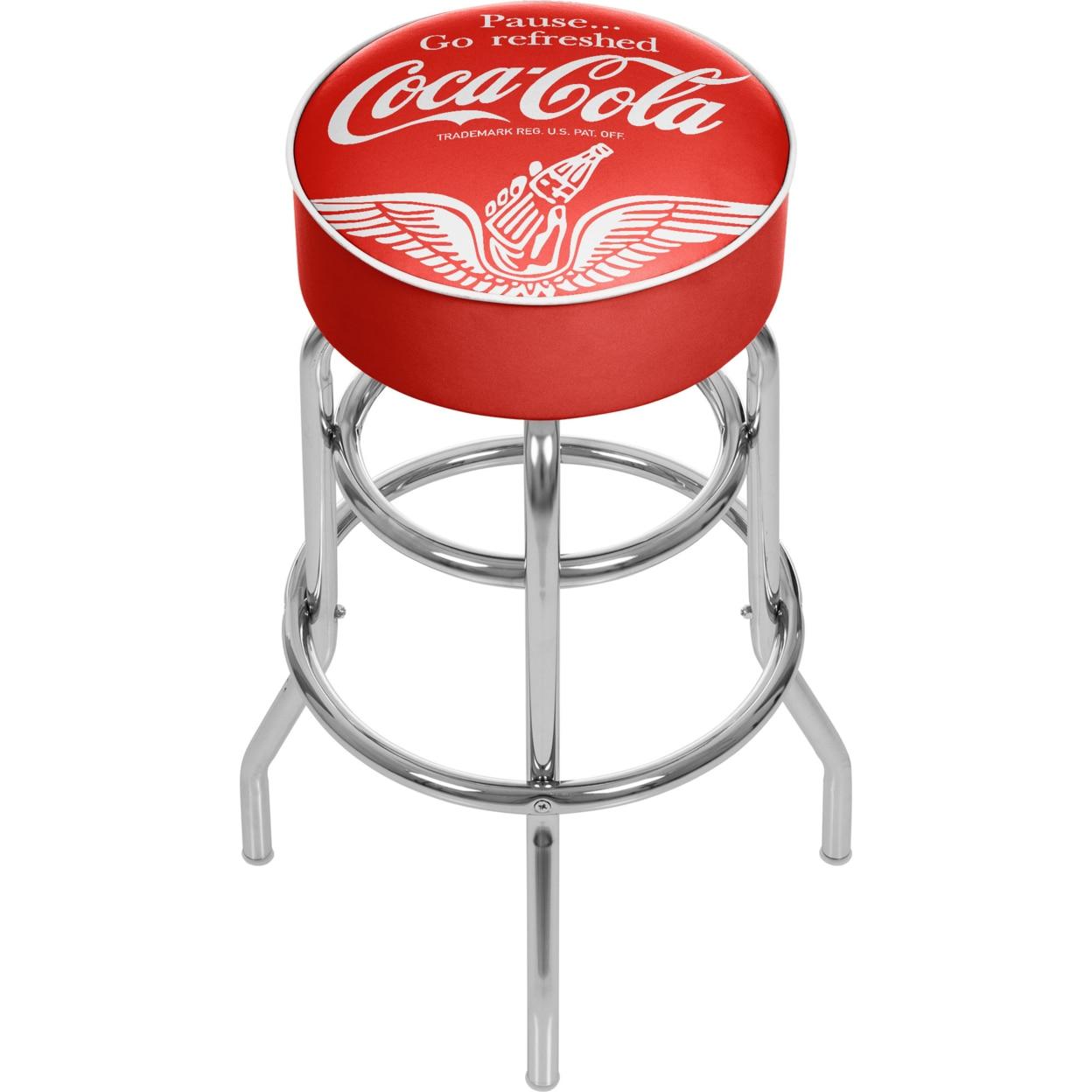 Wings Coca Cola Padded Swivel Bar Stool 30 Inches High coca cola vanilla нижний новгород