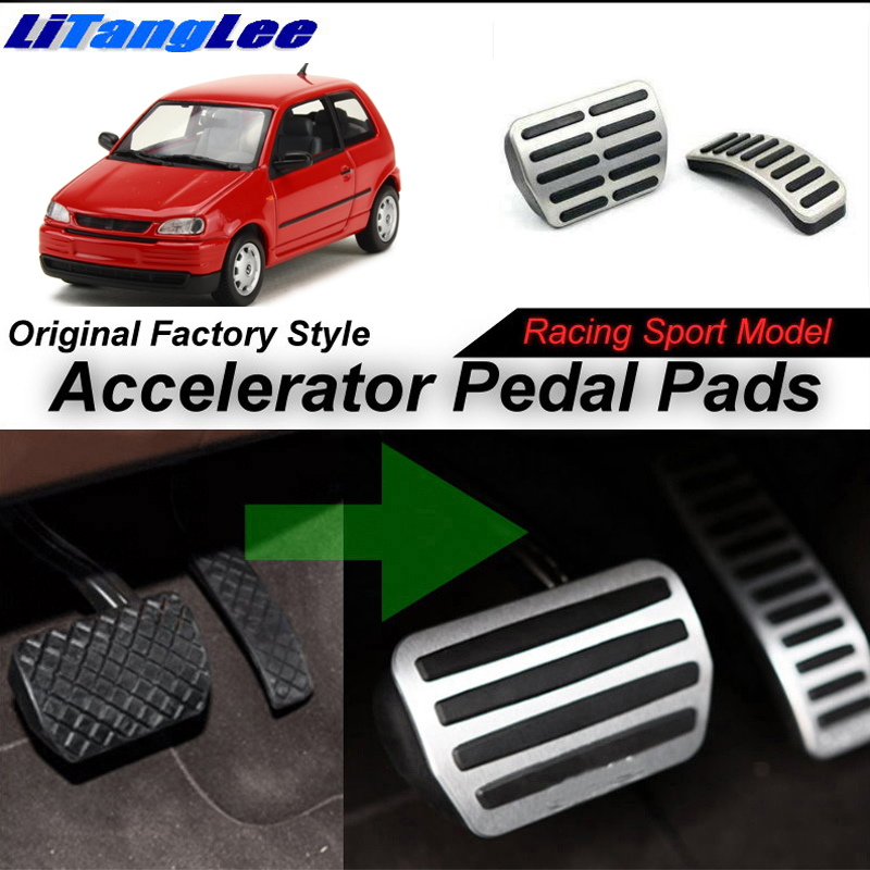 LitangLee Car Accelerator Pedal Pad Cover Sport Racing Design For SEAT Arosa 1997~2004 AT Foot Throttle Pedal Cover (4)
