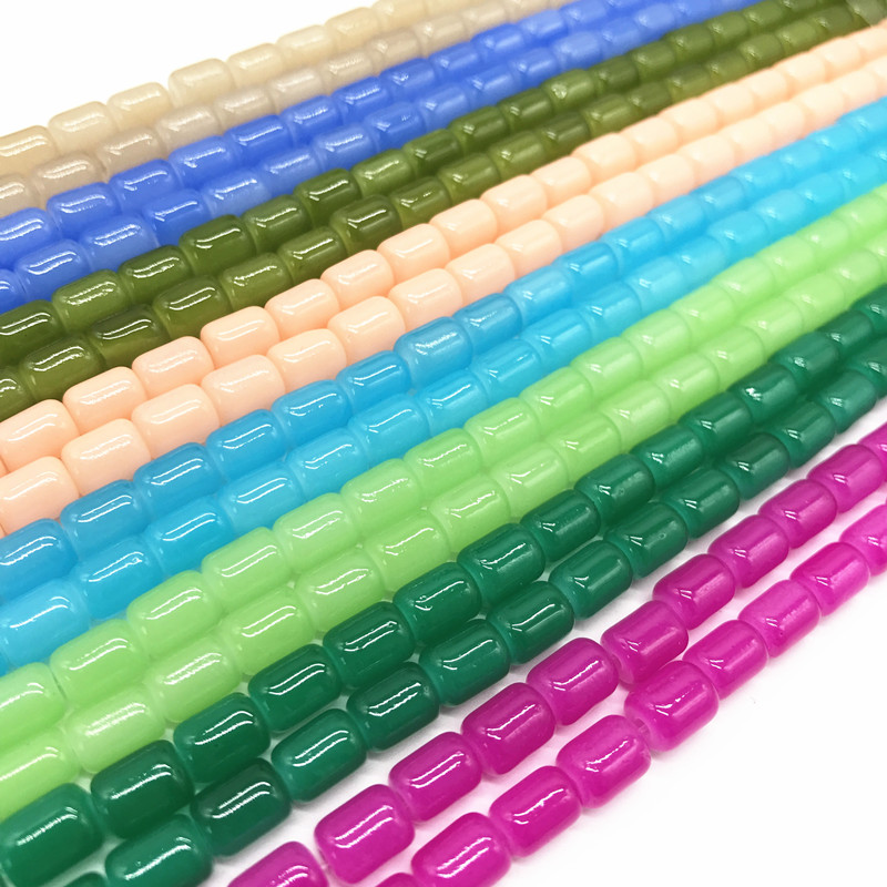 Orderly Wholesale 30pcs 6 8mm Colored Glass Beads Beads Diy Jewelry Jewelry Production Fast Color