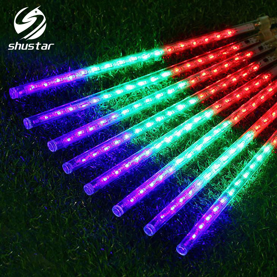 30CM AC220V Led String Light Christmas Light Meteor Shower Falling Star Rain Drop Icicle Snow Fall LED Xmas String Light