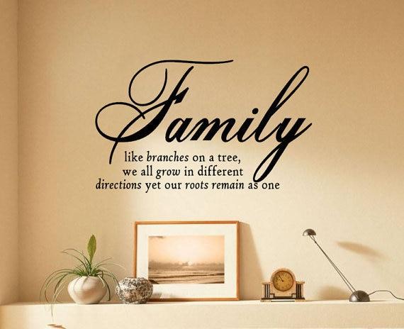 englisch spr che familie baum home decor wandaufkleber wie. Black Bedroom Furniture Sets. Home Design Ideas