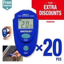 20pcs/lot Digital Thickness Gauge Car Painting Thickness Meter 0-80mil 0.1MM EM2271