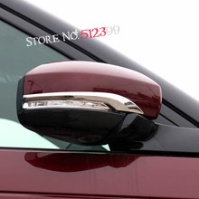 2* Car Door Rear View Wing Rear View Mirror Stripe Cover Decorative Trim For Land Rover Discovery 5 L462 2017 2018 Car Styling