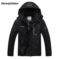 NaranjaSabor 2019 Autumn Winter Mens Jackets Fleece Thick Men's Coat Windbreaker Breathable Waterproof Male Mens Clothing 6XL