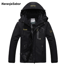 NaranjaSabor 2020 秋冬メンズジャケットフリース厚手のコートウインドブレーカー通気性防水男性メンズ服 6XL