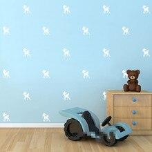 купить Lovely 32pieces / set Bambi Kindergarten children room living room wall stickers Art Mural wall decals home decor Y-59 дешево
