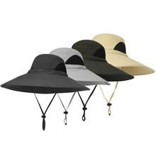 e3d9f209dad24 Outdoor Hat Wide Brim Breathable Hunting Fishing Safari Sun Hat Cap Carp  Fishing Tackle Pesca Fishing
