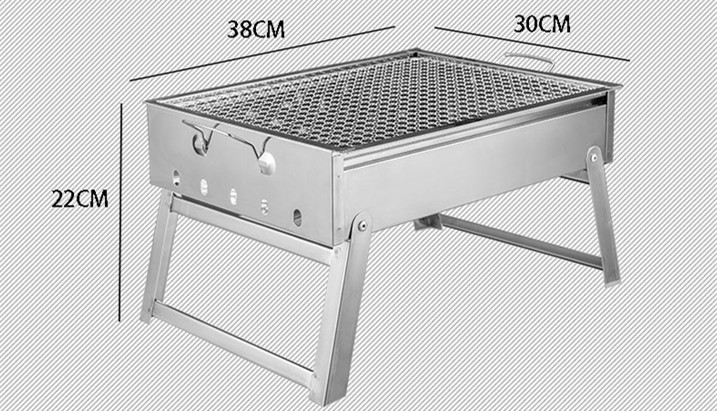 Portable Stainless Steel Barbecue Grills Folding BBQ Grill Home/Outdoor  Charcoal For Outdoor Camping Traveling In Outdoor Stoves From Sports U0026  Entertainment ...